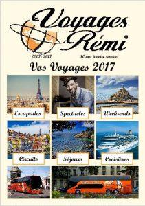 Brochure Voyages Remi 2017