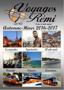 Brochure Automne Hiver 2016-2017 Voyages Rémi
