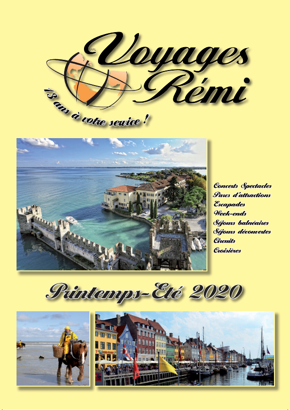 Brochure 2020 VOYAGES REMI